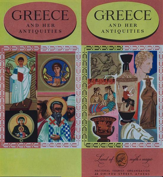 Greece and Her Antiquities Original Travel Brochure