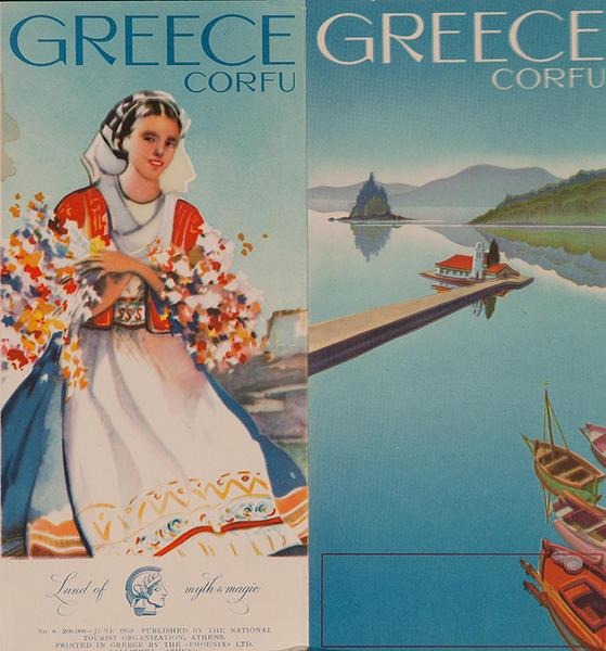 Original Travel Brochure Greece Corfu