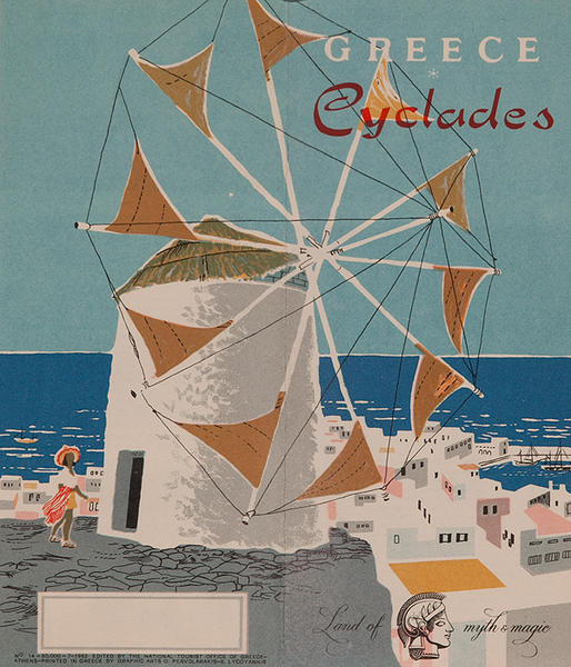 Original Travel Brochure Greece Cyclades  The Land of Myth and Magic