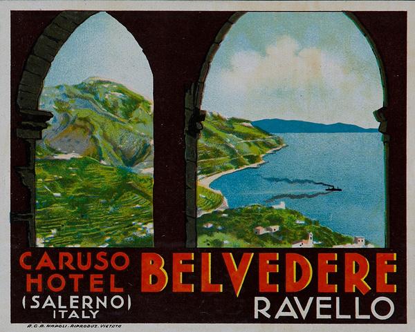 Caruso Hotel Belvedere Italy Original Luggae Label