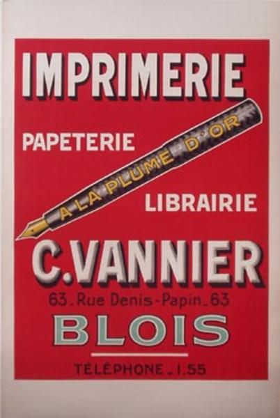 Plume D'Or Pen Original Vintage Advertising Poster