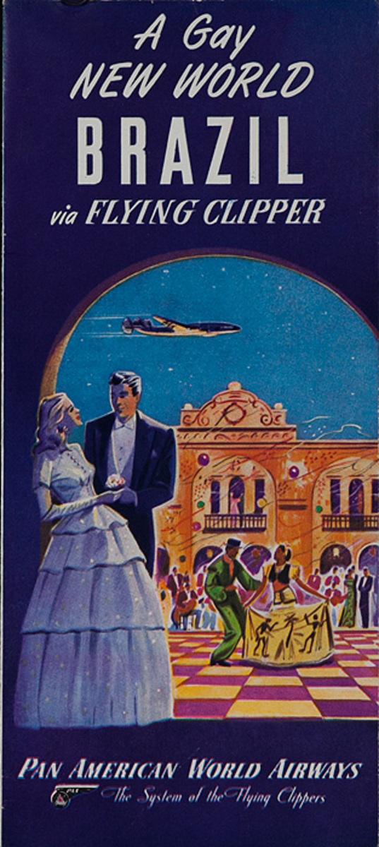 A Gay New World Brazil By Fying Clipper Original Pan Am Airways Travel Brochure