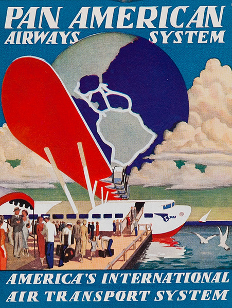 Pan American Airways System Orignal Luggage Label Flying Boat