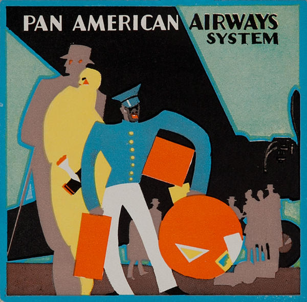 Pan American Airways System Original Luggage Label Skycap Flying Boat