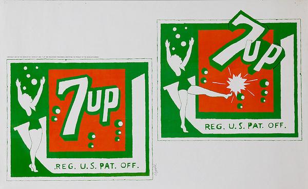 Original 7 Up Poster green red gymnast