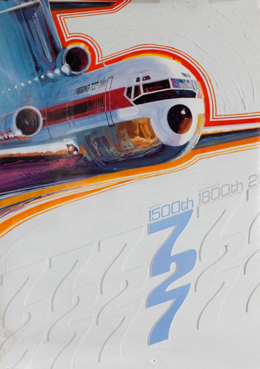 Boeing 727 Original Aircraft Poster