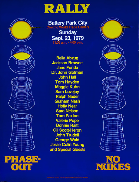 Rally Battery Park City NO NUKES Original American Protest Poster