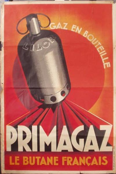 Primagaz (Butane Gas) Original Vintage Advertising Poster