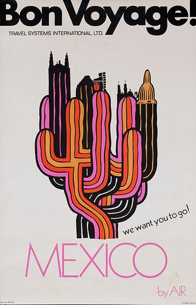 Bon Voyage Travel Original Poster Mexico