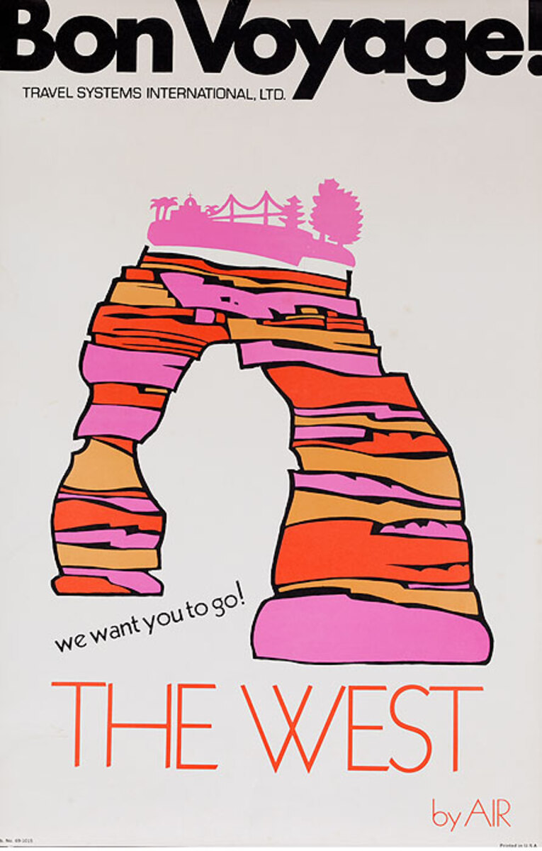 Bon Voyage Travel Original Poster The West