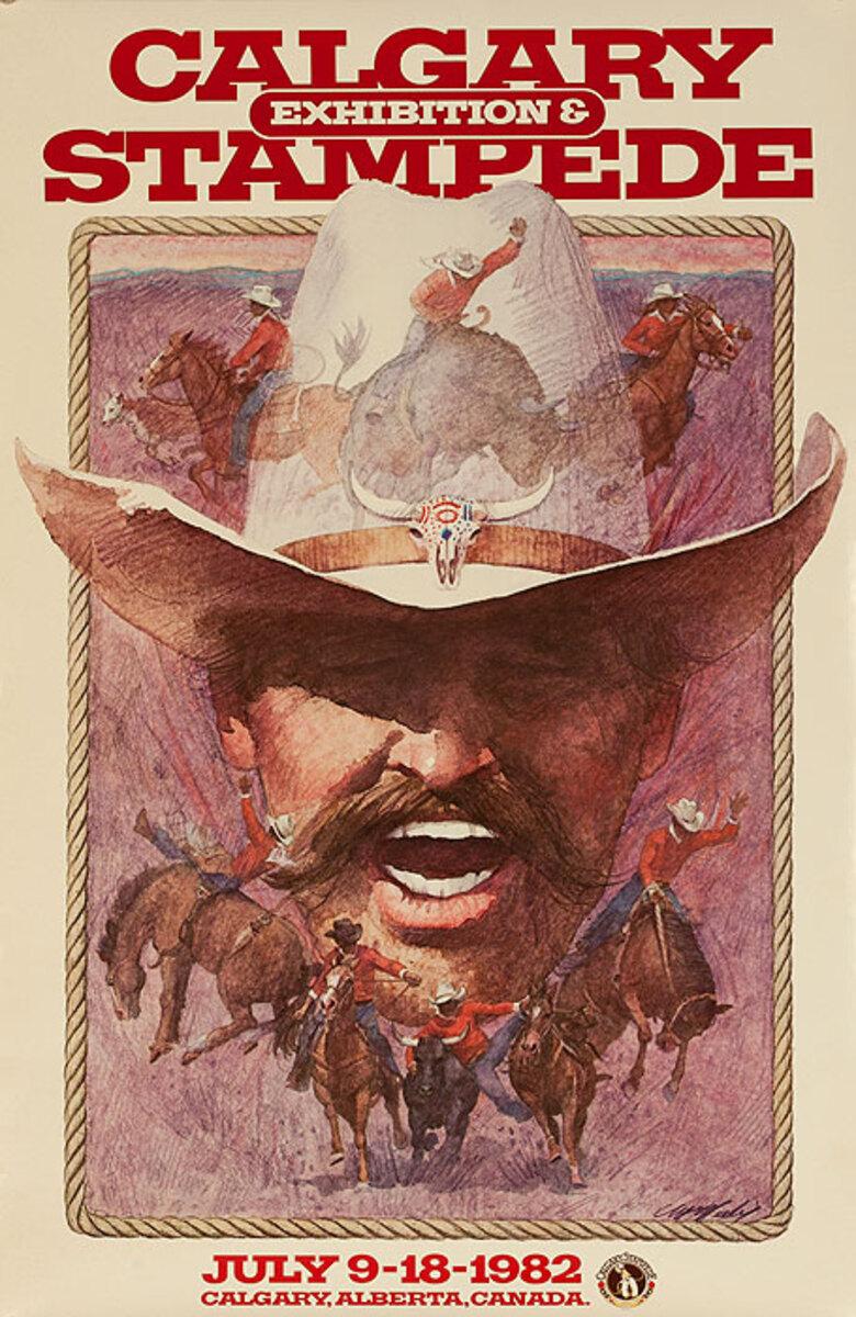 Calgary Alberta Stampede Original Poster 1982