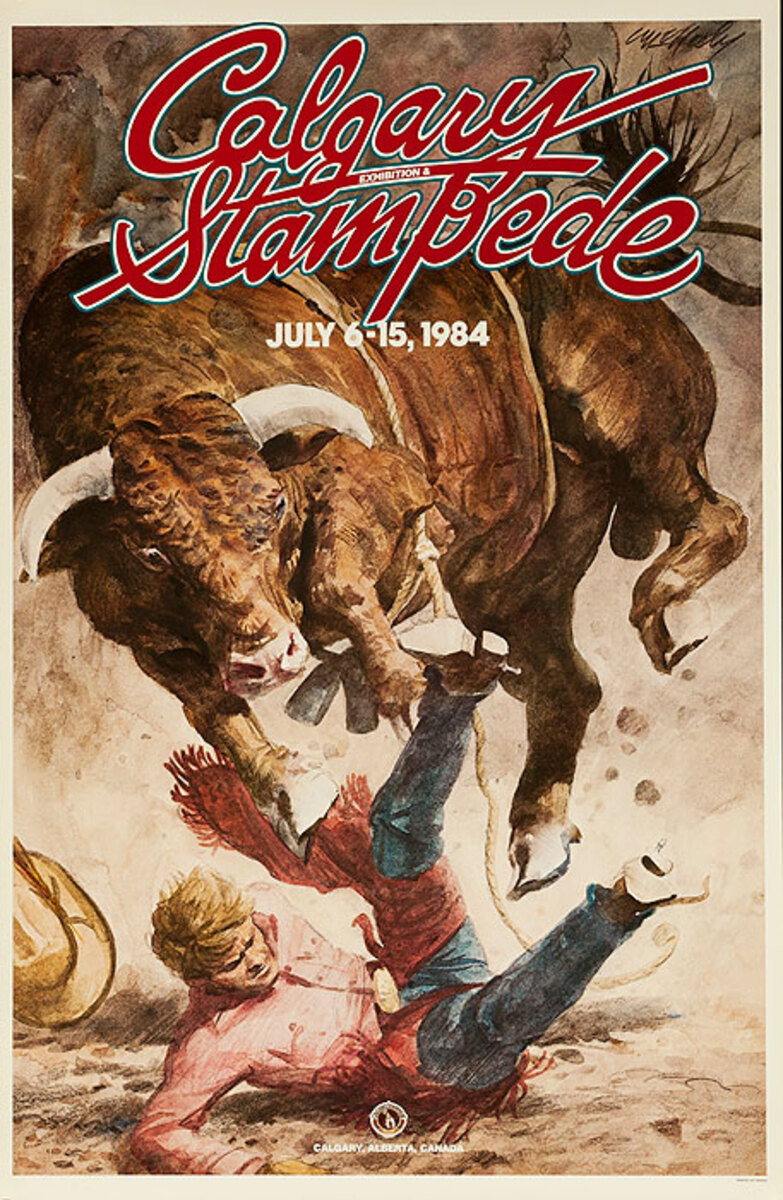 Calgary Alberta Stampede Original Poster 1984