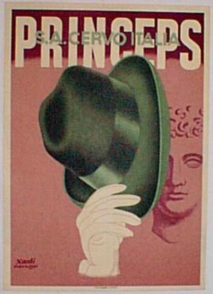 Princeps Hat Original Vintage Advertising Poster