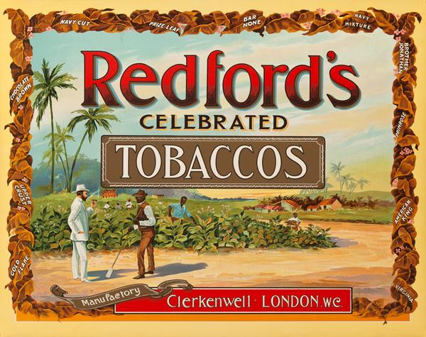 Redford Tobacco Original Advertising Poster