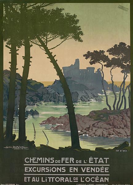 Chemins de Fer de l'Etat Excursion en Vendee Et Au Littoral de L'Ocean Original rench Travel Poster