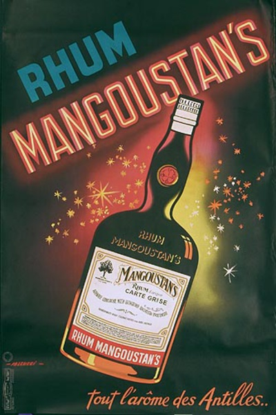 Rhum Mangoustino Original French Advertising Poster