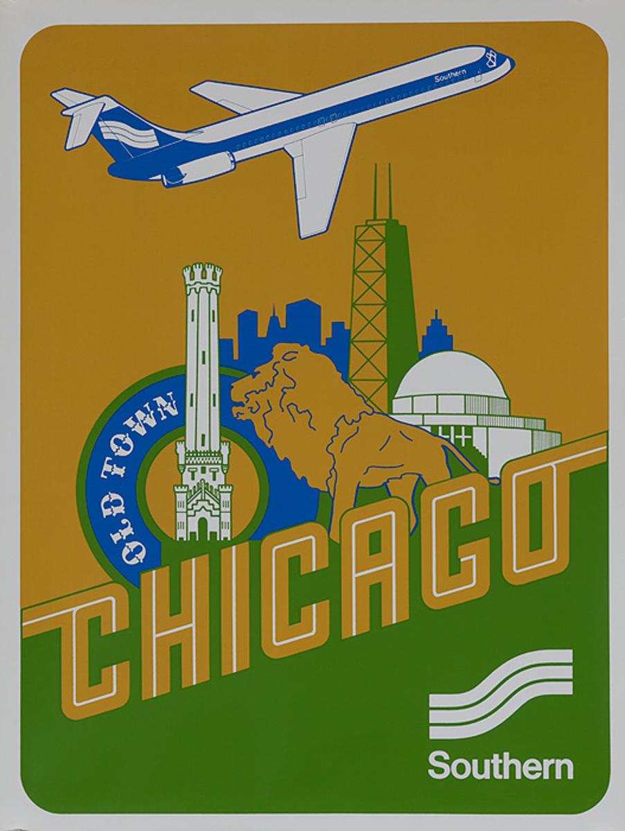 Southern Airways Original Travel Poster Chicago
