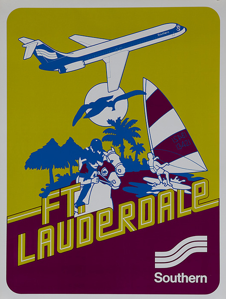 Southern Airways Original Travel Poster Ft Lauderdale