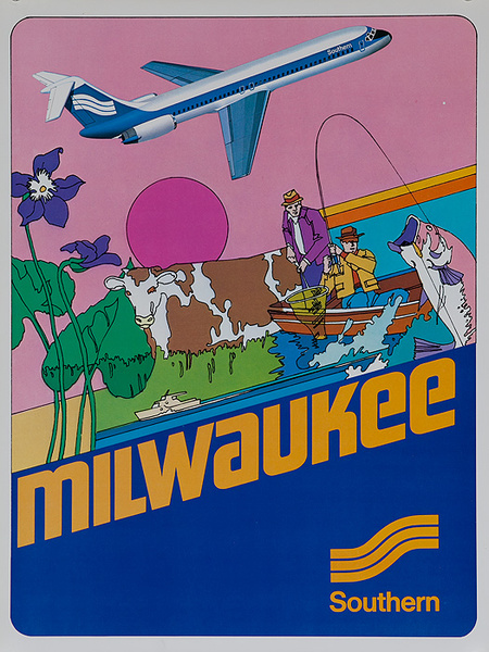 Southern Airways Original Travel Poster Milwaukee