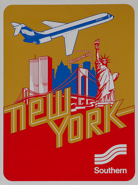 Southern Airways Original Travel Poster New York