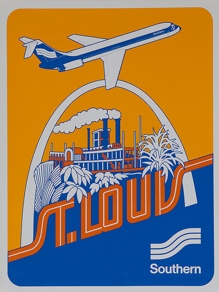 Southern Airways Original Travel Poster St Louis