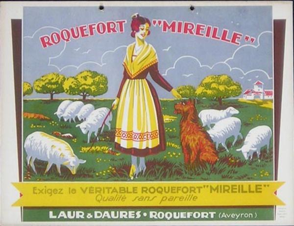 Roquefort Mireille Original French Advertising Poster