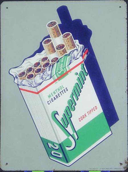 Spearmint [[Cigarette]] Original French Advertising Tin Sign Poster