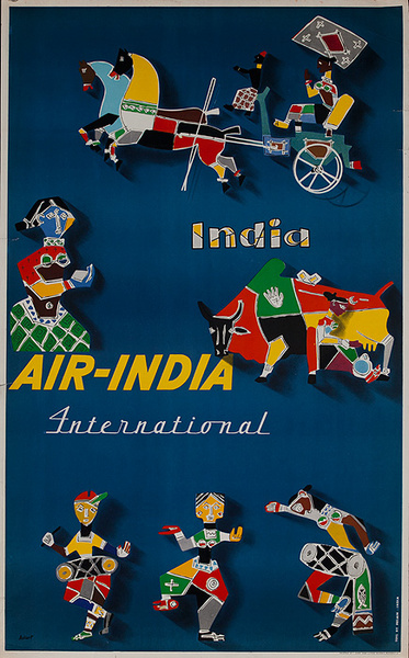 Air India Original Travel Poster India
