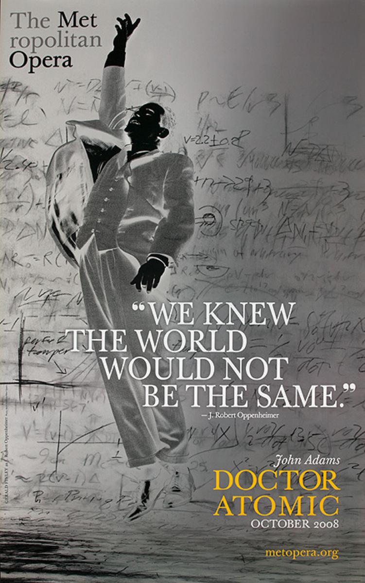 Doctor Atomic Original Met Opera Advertising Poster negative