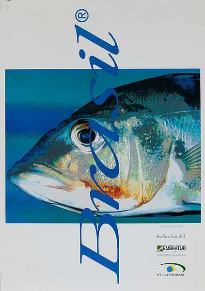 Brazil Original Travel Poster Fish