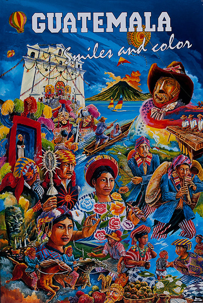 Guatemala Original Travel Poster Smiles and Color