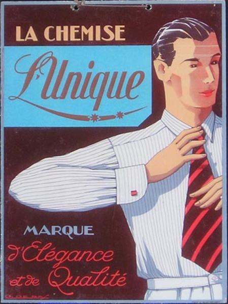 Unique Chemise Original French Advertising Poster