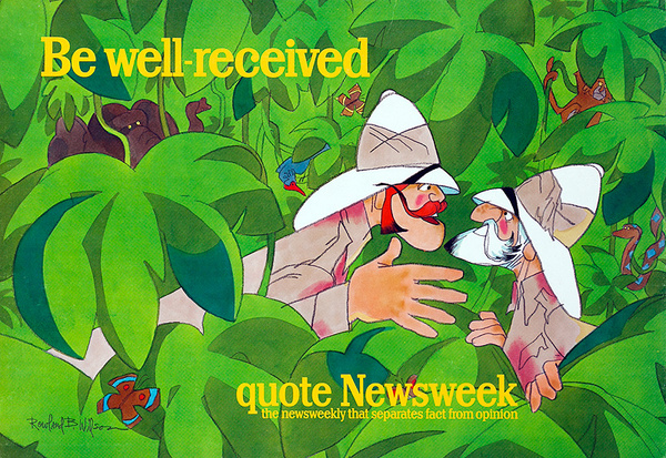 Quote Newsweek Magazine Original American Advertising Poster Be Well Recieved