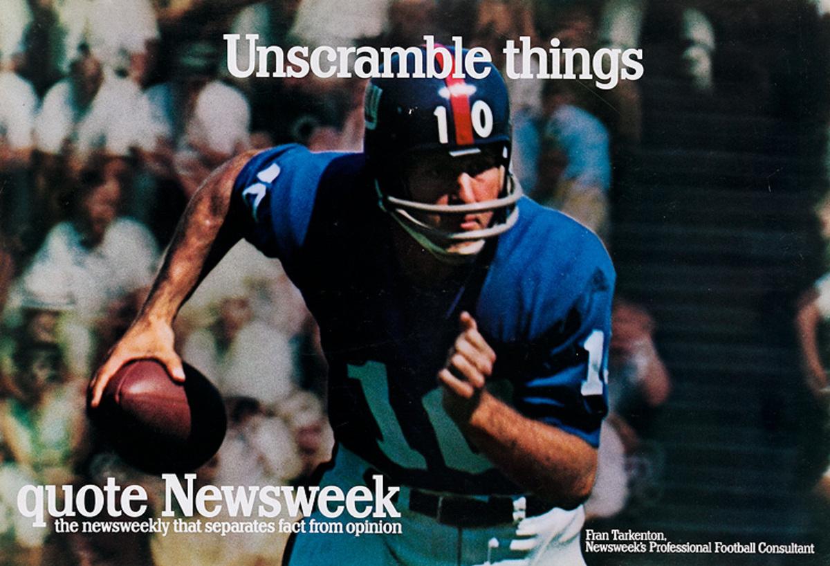Quote Newsweek Magazine Original American Advertising Poster Unscramble Things