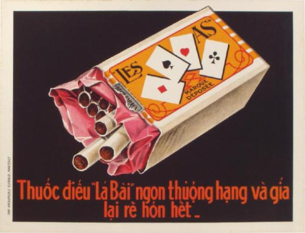 Vietnamese Cigarettes Original Vintage Advertising Poster
