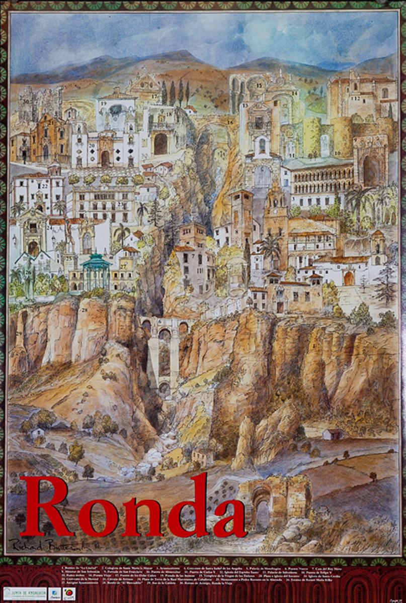 Ronda Spain, Original Spanish Travel Poster