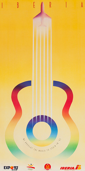 Iberia Expo 92 Original Spanish Travel Poster