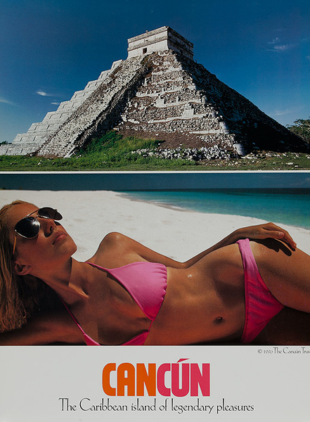 Cancun Mexico Original Travel Poster