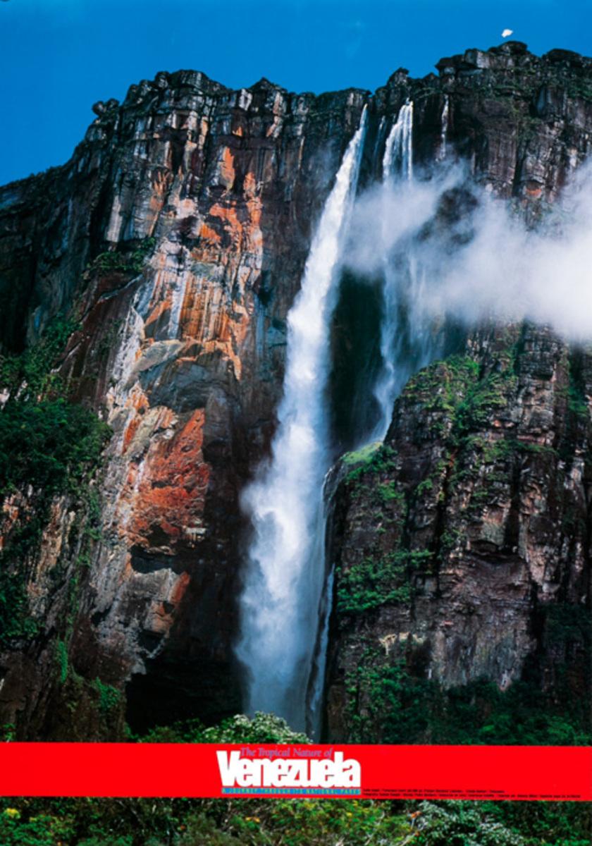 Angel Falls Venezuela Original Travel Poster