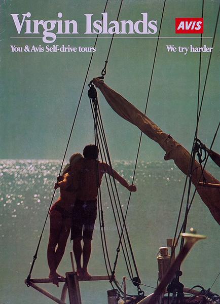 Virgin Islands You and Avis Seld Drive Tours Original Travel Poster