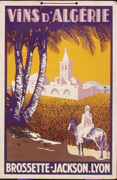 Vins d'Algerie Original Vintage Wine Poster
