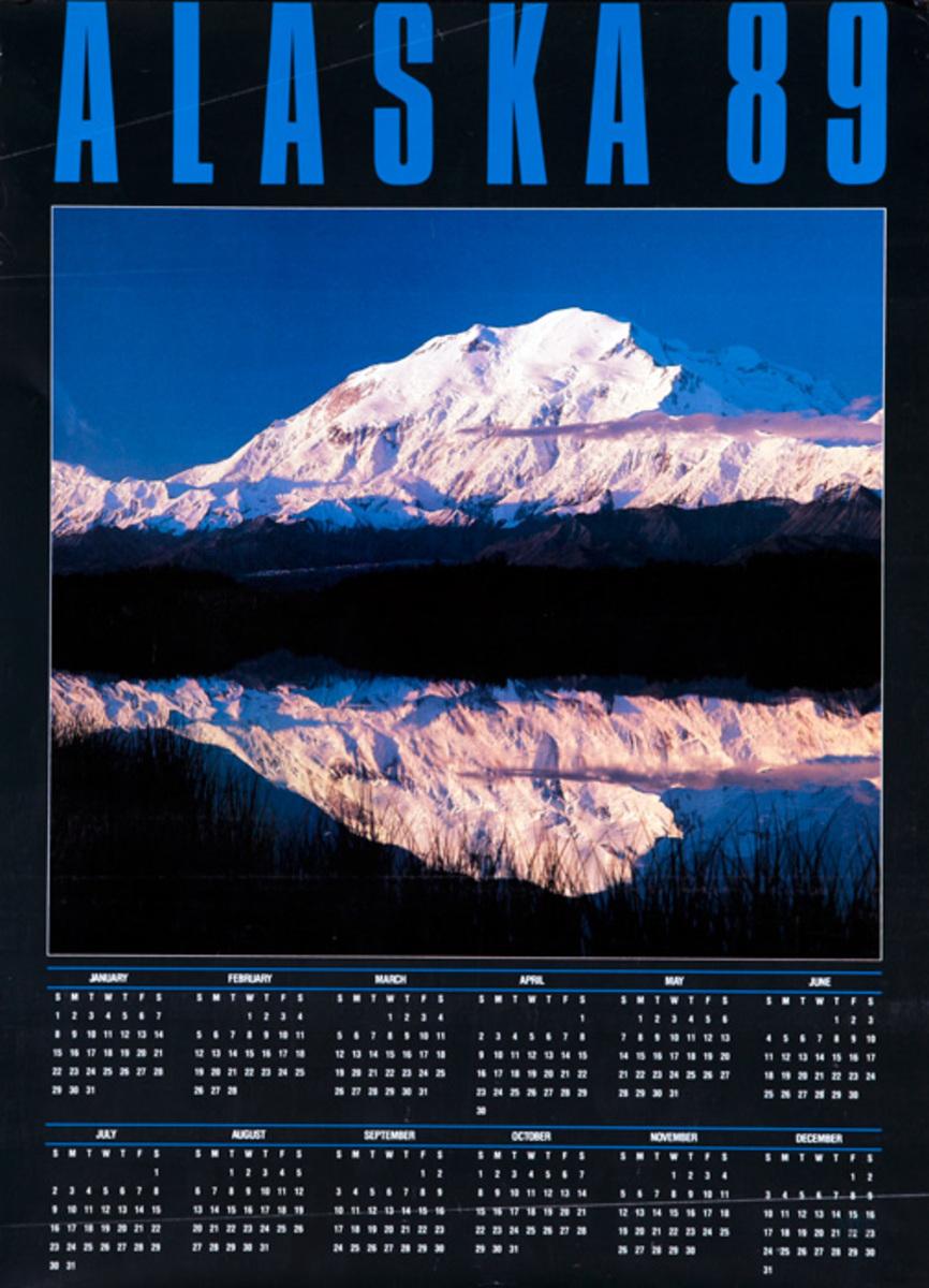 Alaska 89 Original Travel Calendar Poster
