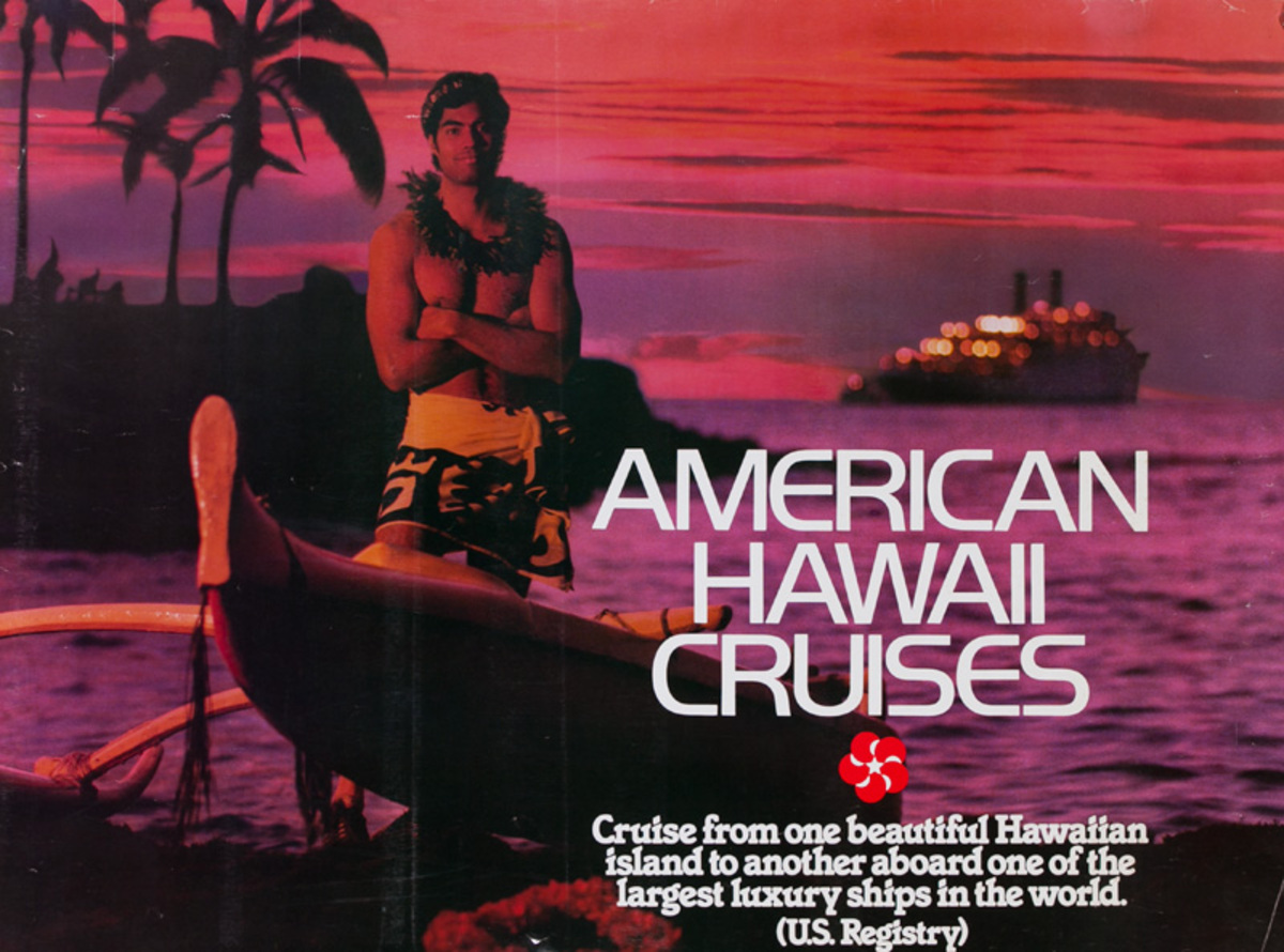 American Hawaii Cruises Original Travel Poster