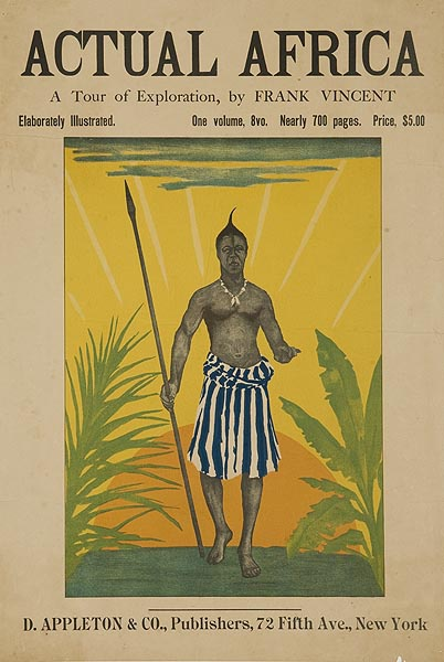 Actual Africa by Frank Vincent Original American Literary Poster