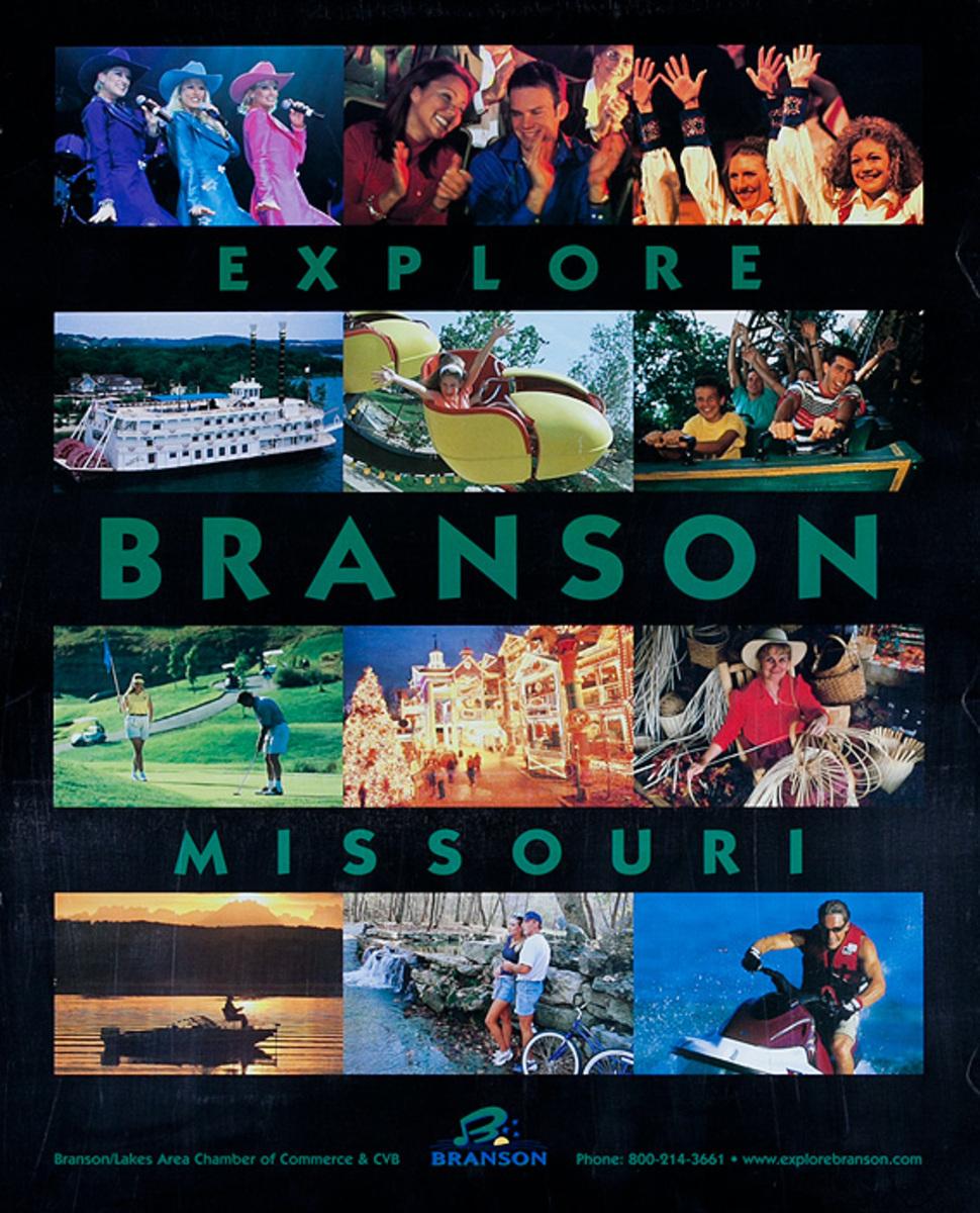 Explore Branson Missouri Original Travel Poster