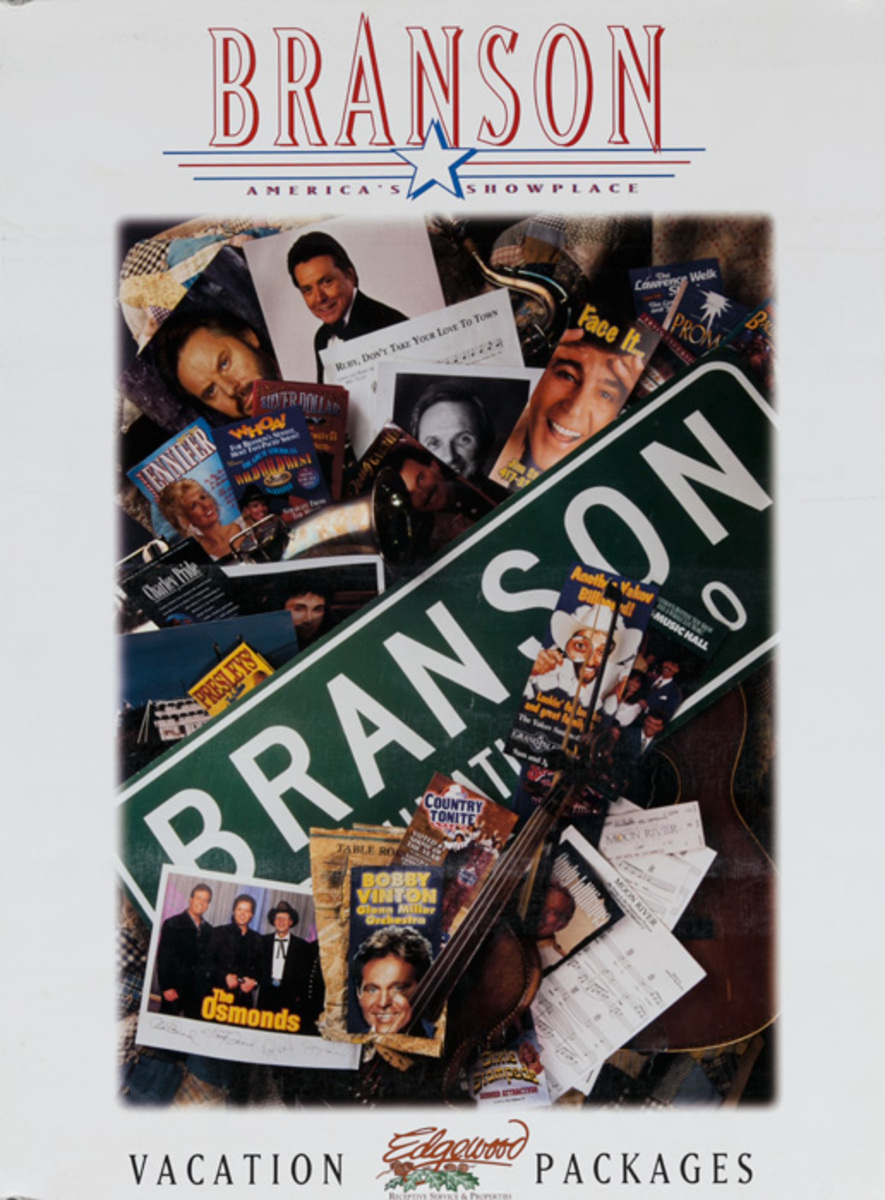 Branson Missouri Vacation Packages Original Travel Poster