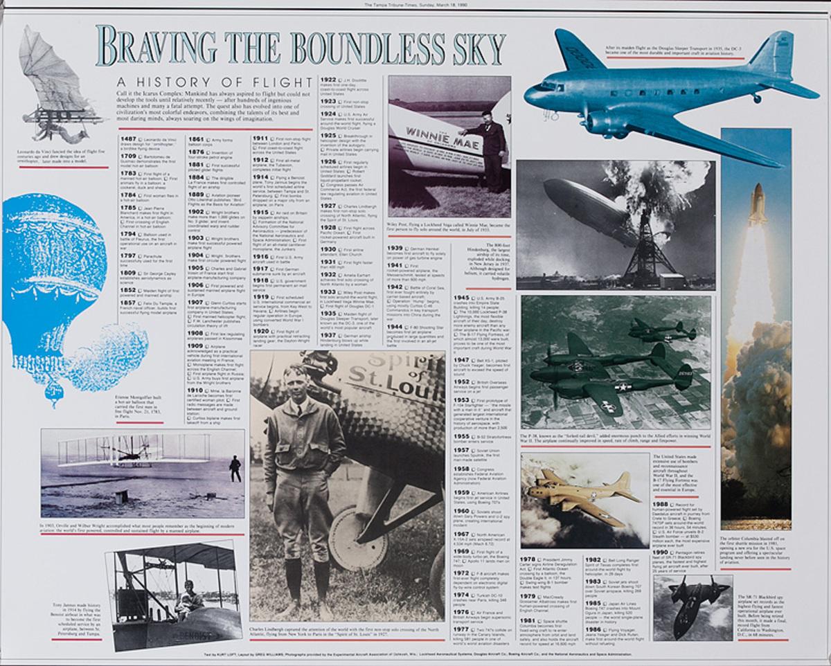 Braving the Boundless Sky Original Aviation Poster