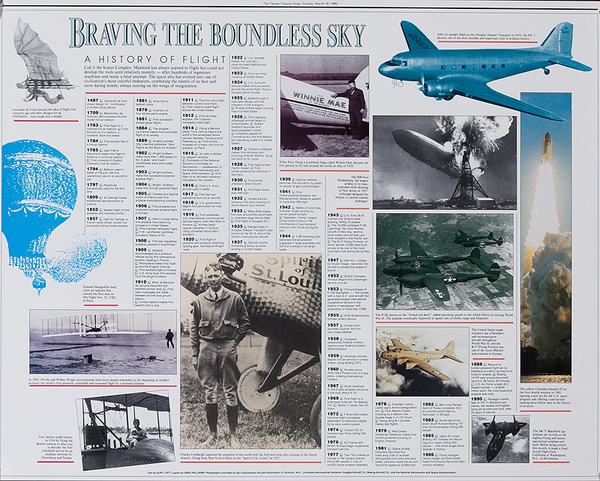 Braving the Boundless Sky Original Aviation Poster