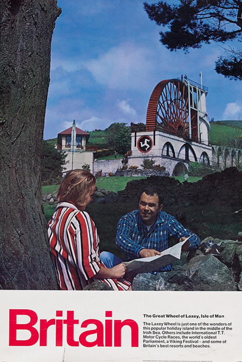 Original Britain Travel Poster Couple Photo