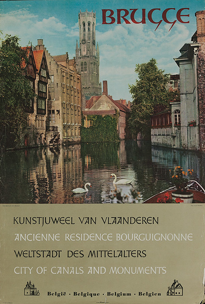 Brugge City of Canals Original Belgian Travel Poster